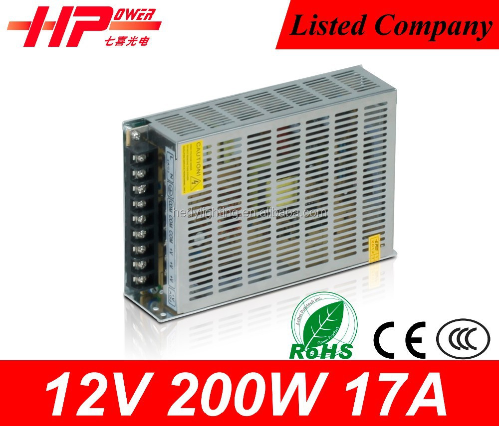 CE RoHS approved constant voltage single output 17 amp 200W 12V sufficient power supply Microsoft XBOX power