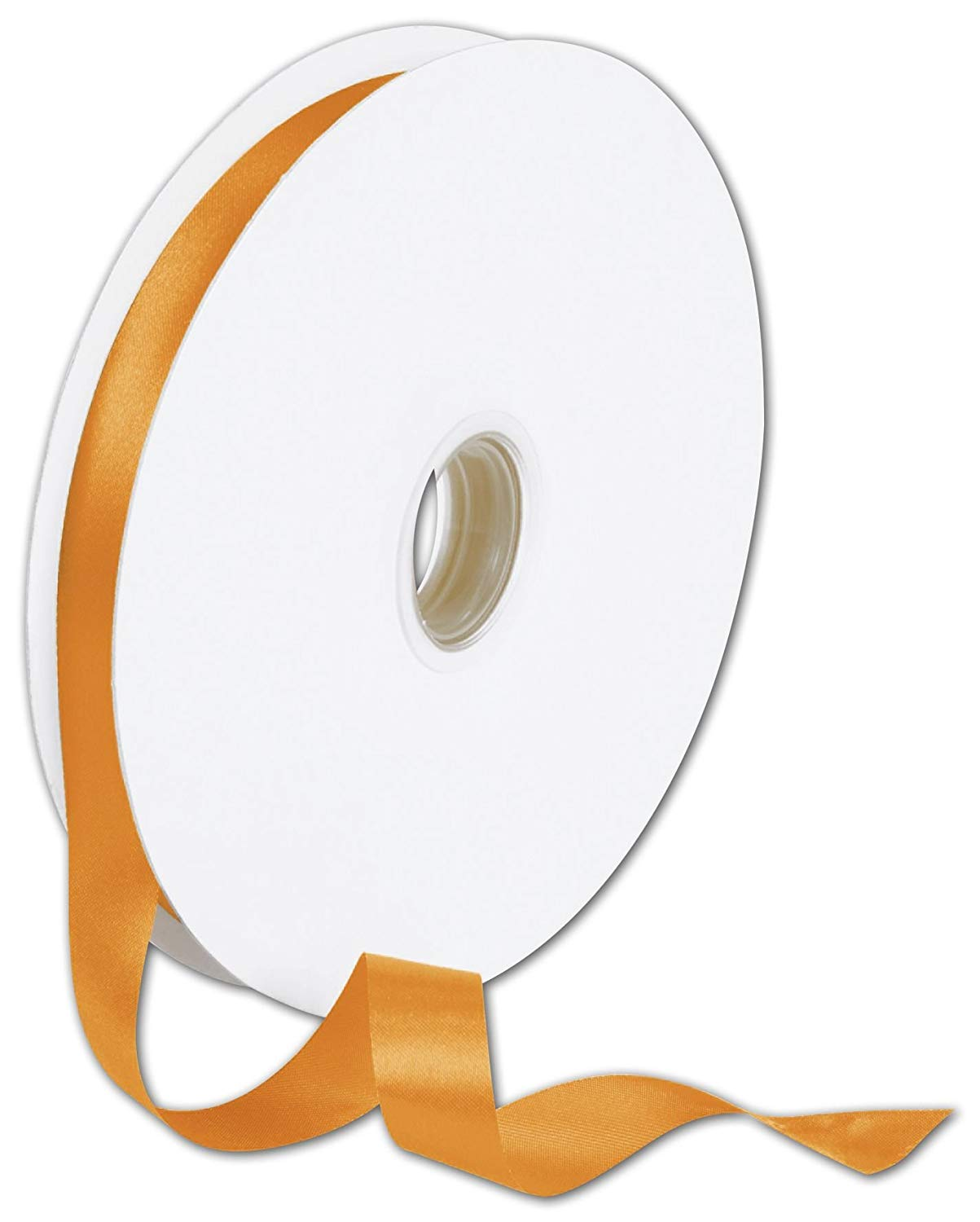 "Double Face Orange Satin Ribbon, 5/8"" x 100 Yds (1 Roll) - BOWS-088-5-751"