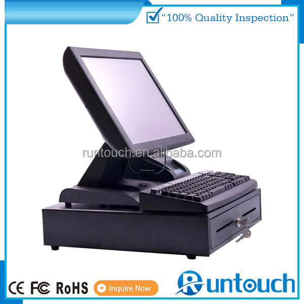 Runtouch RT-6800A EPOS TILL Touch Screen POS Systems 101 Keyboard POS 15 Inch 6 USB 1 Lan EPOS SYSTEMS