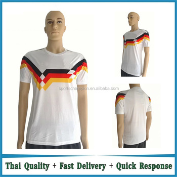 7a52200200d Free shipping to Germany home Retro football shirt 1990 thailand quality  White Retro jerseys