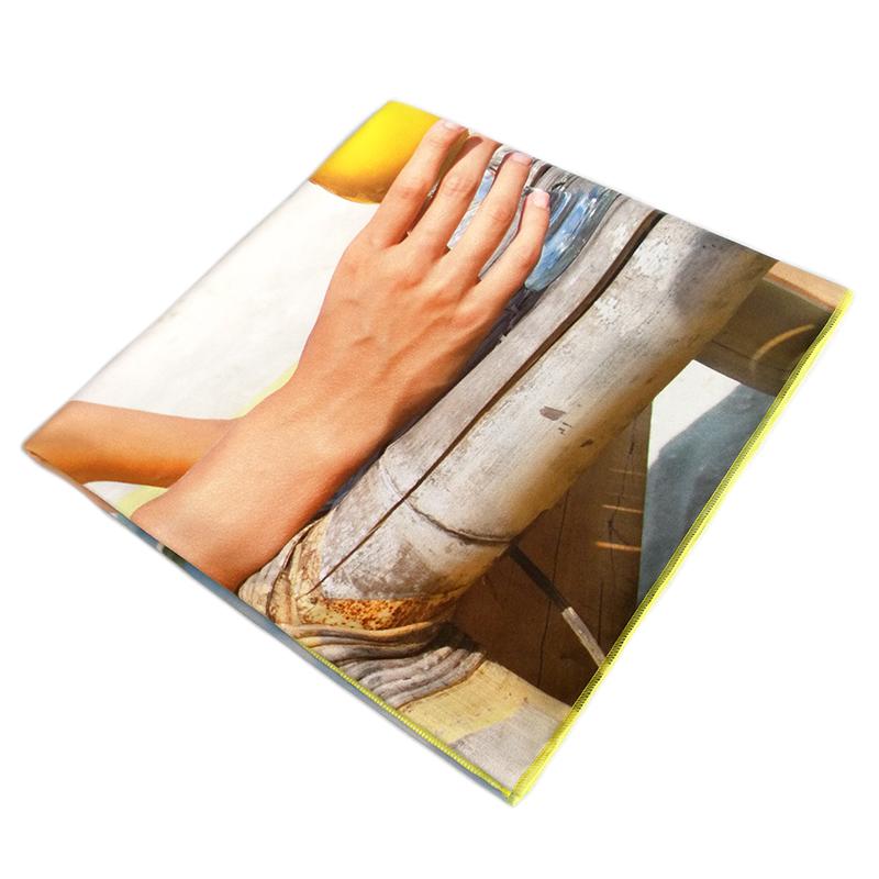 Custom big size microfiber towel for beach