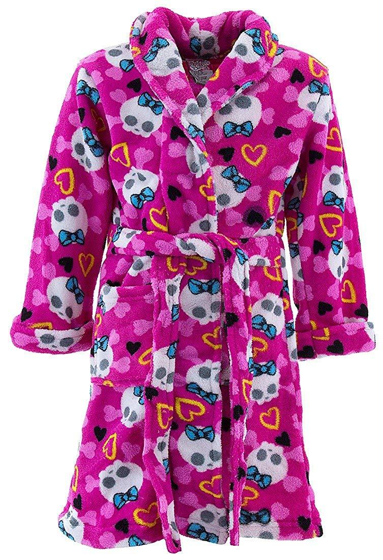 Get Quotations · Sweet and Sassy Little Girls  Pink Skull Fleece Bathrobe feaf4e8bc