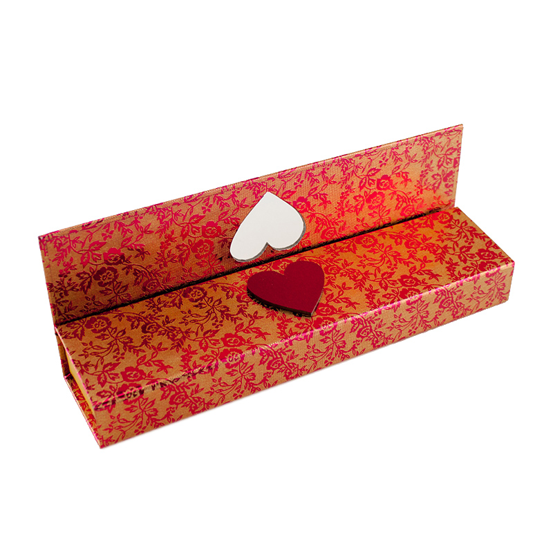 Cloth Finish Red Bride Wedding Necklace Jewelry Gift Box