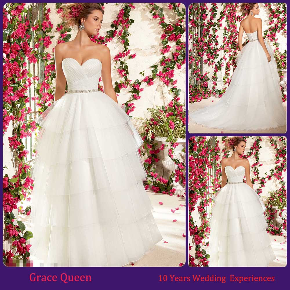 Wedding Gowns With Swarovski Crystals: Perfect Elegant Wedding Dress Lace Swarovski Crystal Waist