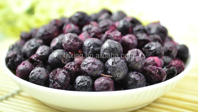 certified and health Freeze dried fruit of 100% natural dried blue berry
