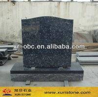 Blue pearl granite headstone wholesale&angel heart headstones