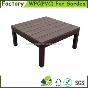 Wood Plastic Composite WPC Raised Decking Easy Prefab Modular Deck
