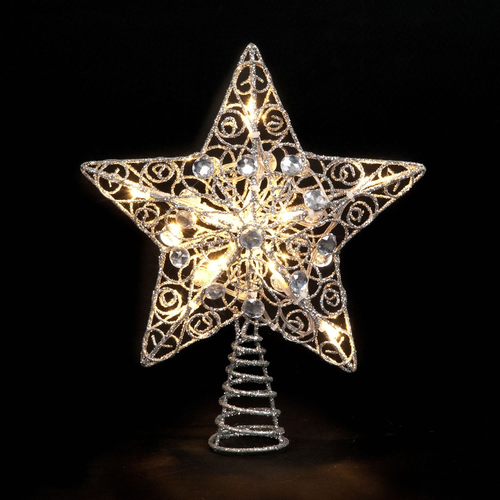 Christmas Tree Star.2017 Wholesale Christmas Tree Star Silver Glitter Battery Operated Tree Topper Star With Led Lights Buy Led Twinkle Light Star Christmas Tree