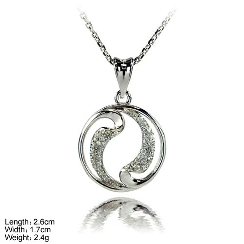 PZL-0031 2017 wholesale 925 Sterling Silver Pendant with CZ Stone Jewellery Pendant Necklaces