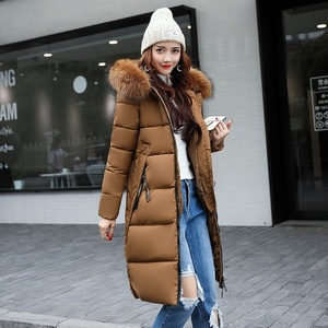 Winter Women Fashion Warm Parka Coat Fur Down Jackets Cotton Female Clothing