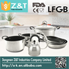 lfgb certificate fry pan and sauce pot with glass lid casserole