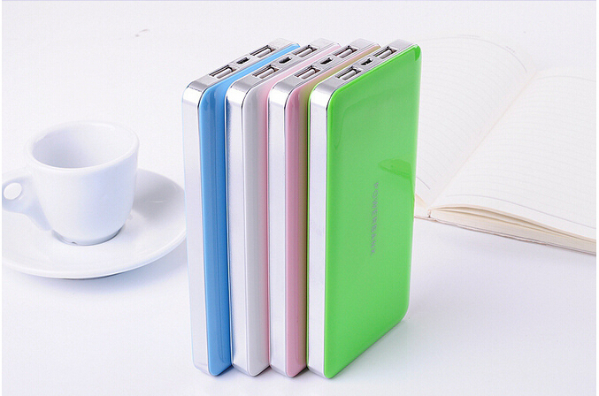 Wholesale LOT Ultra-thin External Battery Power Bank 12000mah Portable Pack Charger For Charging your mobile phone