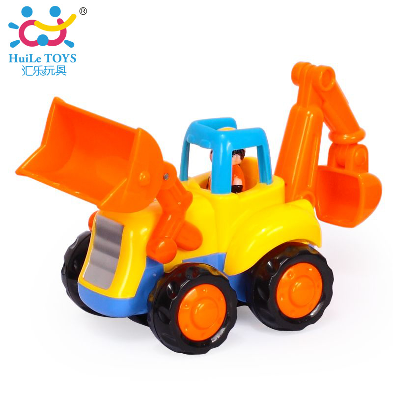 1PC Baby Toys Push and Go Friction Powered Car Toys Tractor Bull Dozer Truck Early Educational