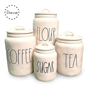 Kitchen container sets rae dunn storage jar ceramic flour tea sugar coffee canister