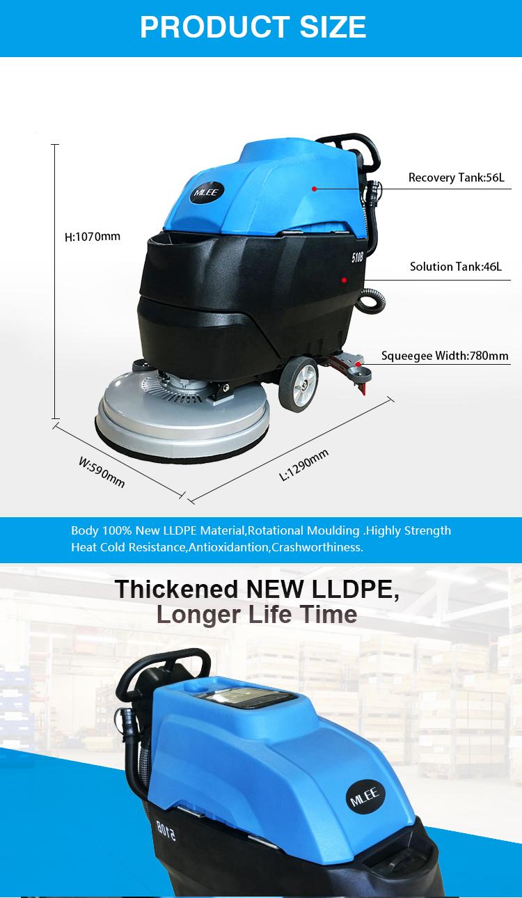 MLEE510B SATıLıK zemin temizleme ekipmanları Taşları Beton Epoksi Kauçuk Zemin Scrubber Makineleri