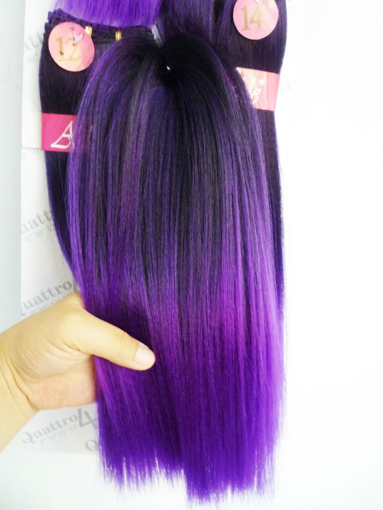 Wholesale adorable 4pcs premium two tone ombre silk straight yaki wholesale adorable 4pcs premium two tone ombre silk straight yaki wave non remy synthetic fiber pmusecretfo Choice Image