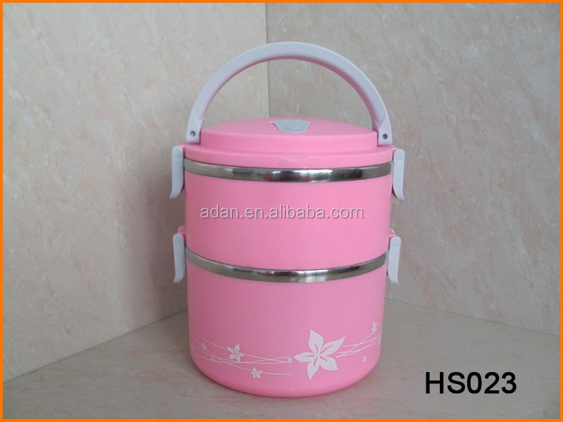 HS023 Heat Preservation Plastic Steel Combination Lunch Box
