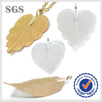 Wholesale real gold plated euro style copper natural leaf pendant wholesale real gold plated euro style copper natural leaf pendant aloadofball Choice Image