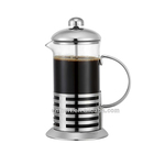 High Quality Stainless Steel Portable Custom Logo French Press Coffee Pot