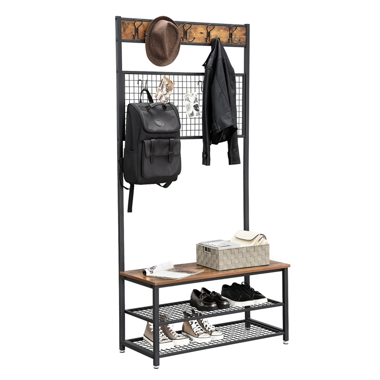 Astounding Vasagle Wood Antique Stand Cloth Rack Clothing Rack Industrial 3 Tier Coat Rack With Storage Bench Buy 3 Tier Coat Rack Antique Stand Cloth Pabps2019 Chair Design Images Pabps2019Com