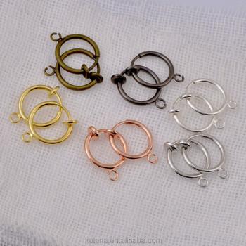 Hot S Hoop Gold Plating Earrings Round Spring Earring Findings