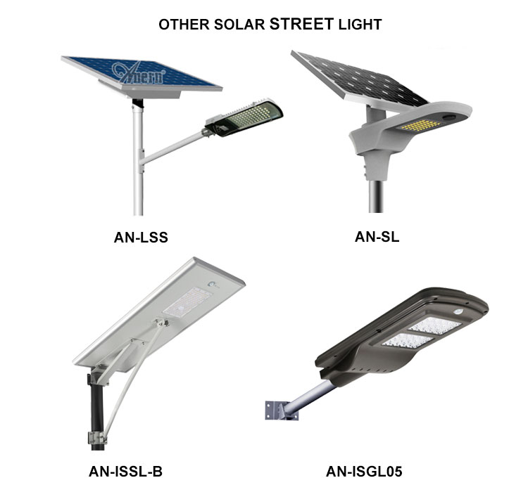 40w Flexible solar lighting led street light