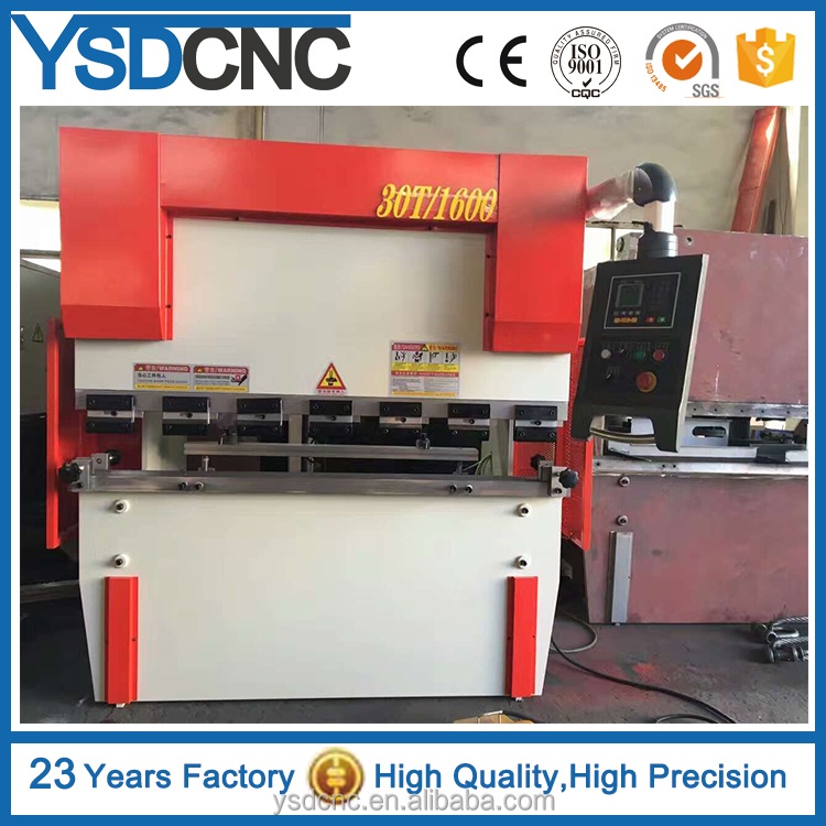 30t/1600 High Efficiency CNC Steel Plate Press Brake, Hydraulic Bending Machine with CE