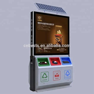 taxi billboard solar advertising light box with dustbin