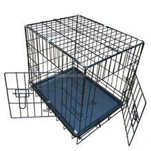 double-Door Folding Metal Dog Cage