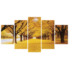 Best Seller 5 개 HD Printed Canvas 인화 폴른 잎 금 벽 Art Painting Pictures 대 한 홈 Decor