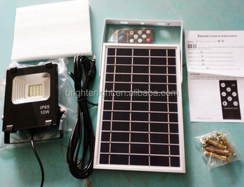 Remote control Solar Garden light led Flood light 10W