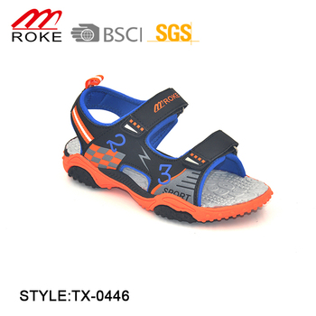 8acbe0944 Kids Beach Shoes Summer Boys Sandals Flat Space Leather Child Slippers Flip  Flops Kids Beach Shoes