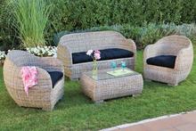 ratn muebles de mimbre al aire libre sof de jardn