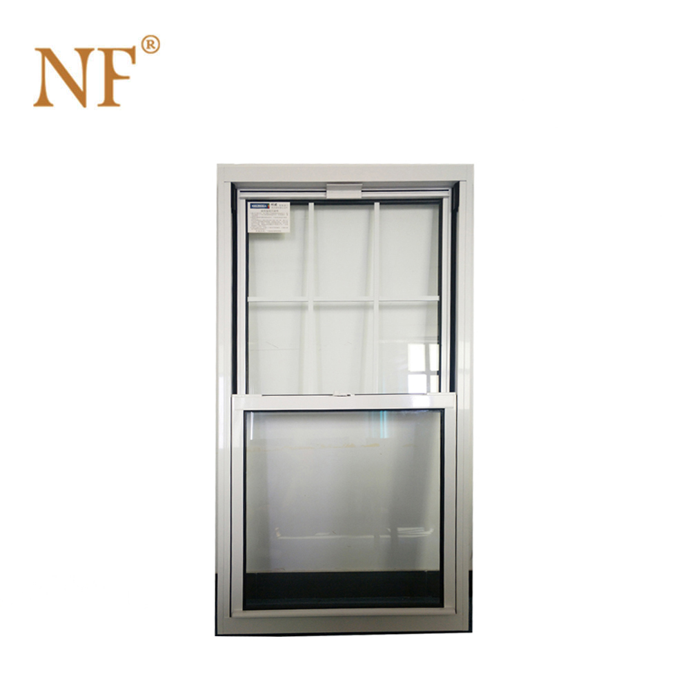 Double glazing aluminum double hung window single hung windows