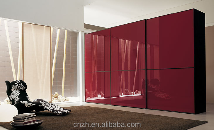 Bedroom closet wood wardrobe plywood cabinets wall almirah for Almirah design images