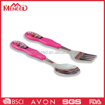 Beautiful design melamine and steel kids dessert spoons and forks
