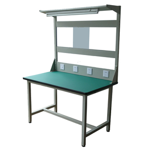 Steel mobile Worktable with MDF Table Top for Workshop