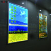 Hanging aluminum profile snap frame double sided outdoor led backlit lightbox
