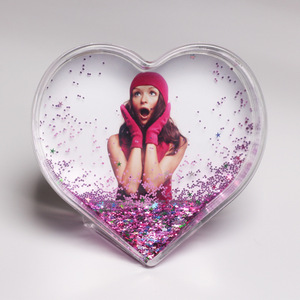 Acrylic Heart Star Photo Frame Snow Globes
