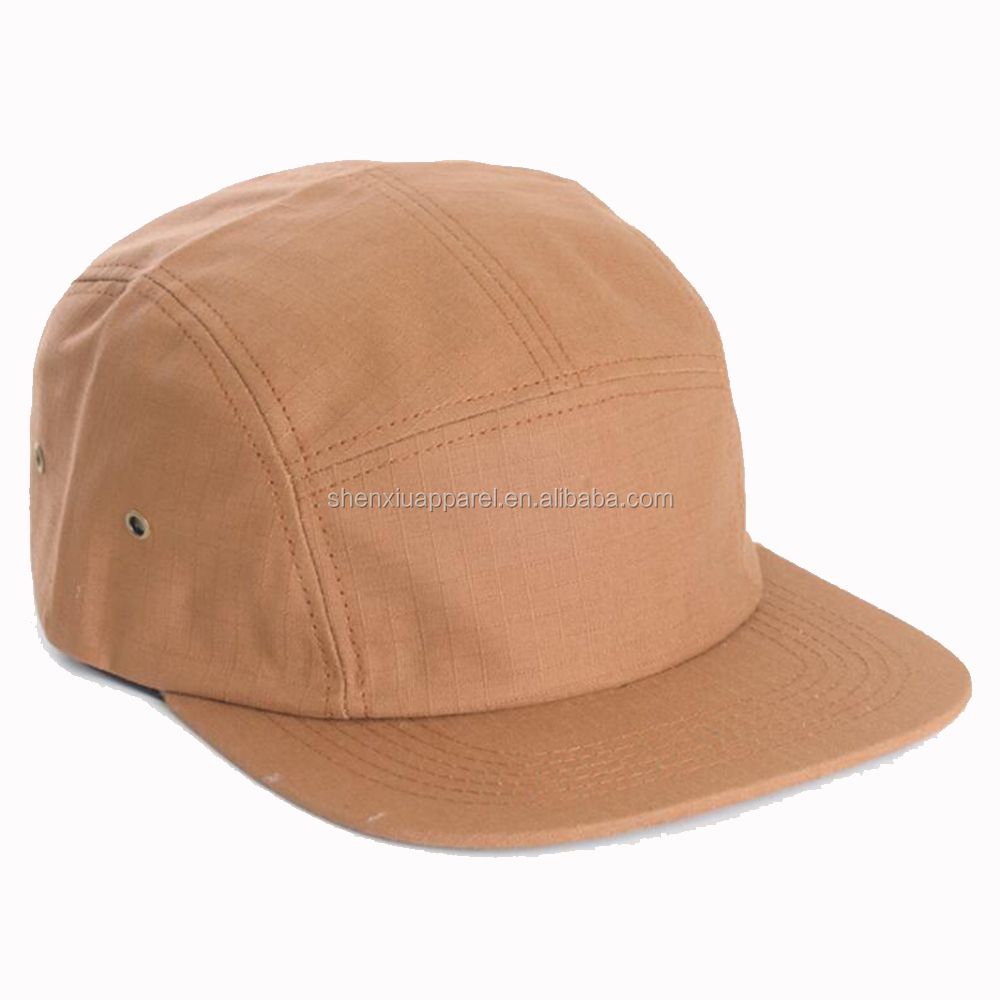 69f5865711f Wholesale Blank Nylon 5 Panel Camp Cap Back Strap Hat - Buy ...