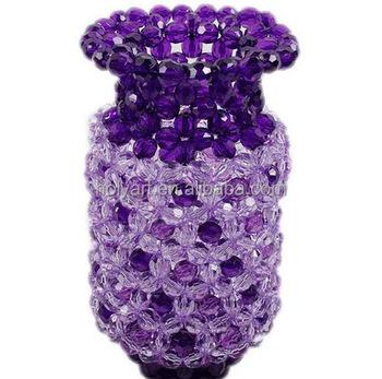 Hot Sale Decoration Crystal Beads Vase Buy Decoration Crystal