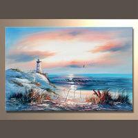 Newest Handamde Sunset Seascape Oil Painting For Decor