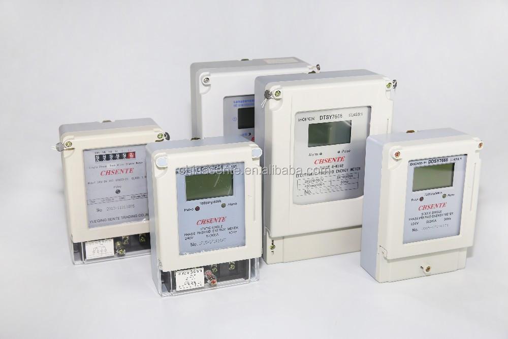 Dtsy7666 Three Phase Electrical Digital Electric Prepaid Meter ...