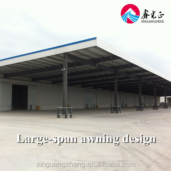 Prefabricated large space steel structure logistics warehouse