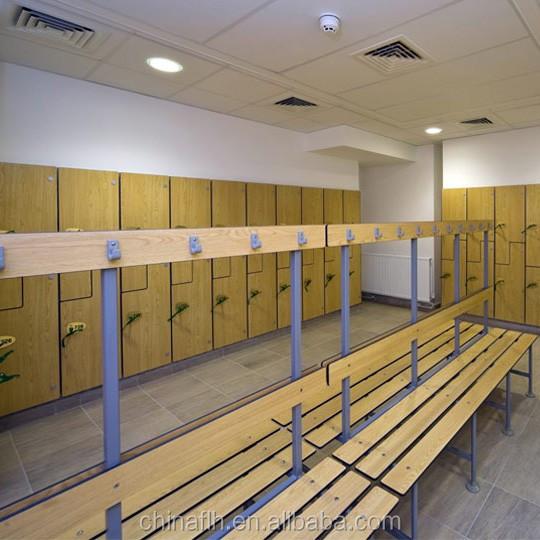 Multifunction waterproof locker room bench gym changing room hpl