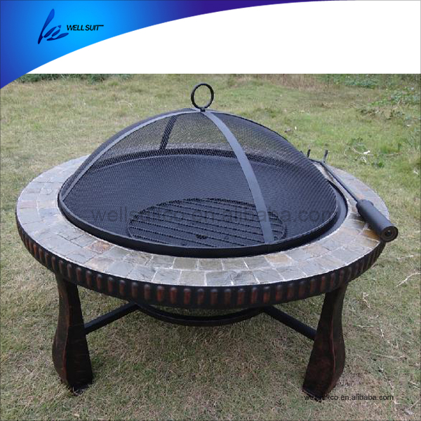 Round outdoor table firepit from China
