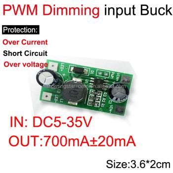 1w 2w 3w Led Driver Module Pwm Dimming Input Dc 5-35v 12v 24v,Output 750ma  Cc Cv - Buy 1w 2w 3w Led Driver Module Pwm Dimming Input Dc 5-35v 12v 24v