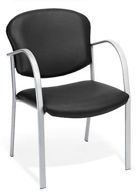 Anti-Bacterial Black Vinyl Medical Office Guest Seating Side Chair -Clinic Chair