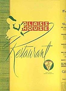 Famous Glass House Restaurant Menu Late 1950's Dallas Fort Worth Turnpike Texas