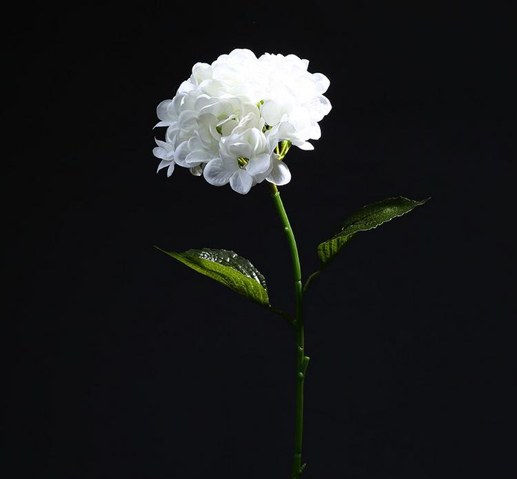 Uzun Kök Bir çiçek Kafa Sahte Ipek Dekor Tek Ortanca Buy Tek Kafa